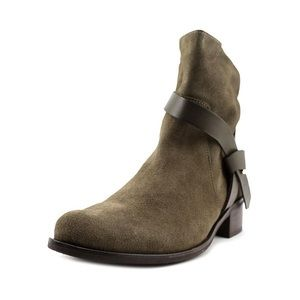 Charles David Shoes - Charles David Genni Moto Suede Olive Bootie